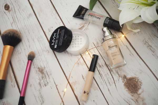 flawless-drugstore-base-foundation-routine-products-beauty-how-to-achieve
